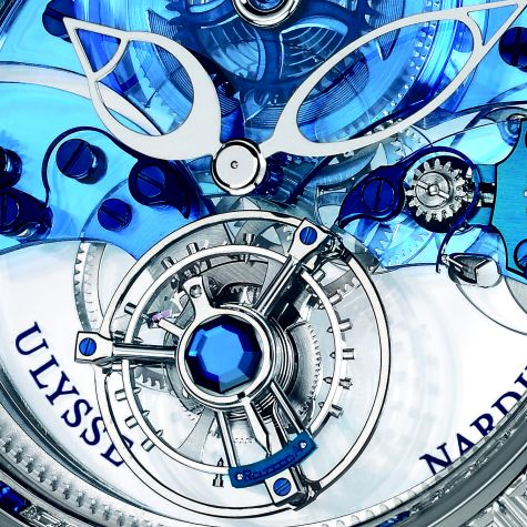 Royal Blue Tourbillon dial