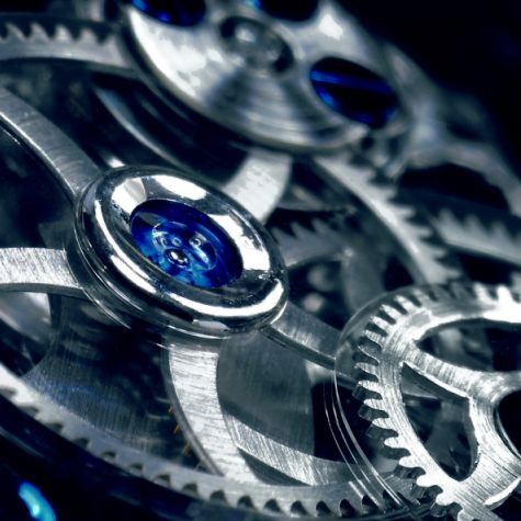 Royal Blue Tourbillon movement detail